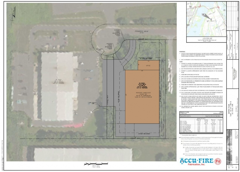 AccuFire Proposed 53,000 SF Warehouse, Office Space