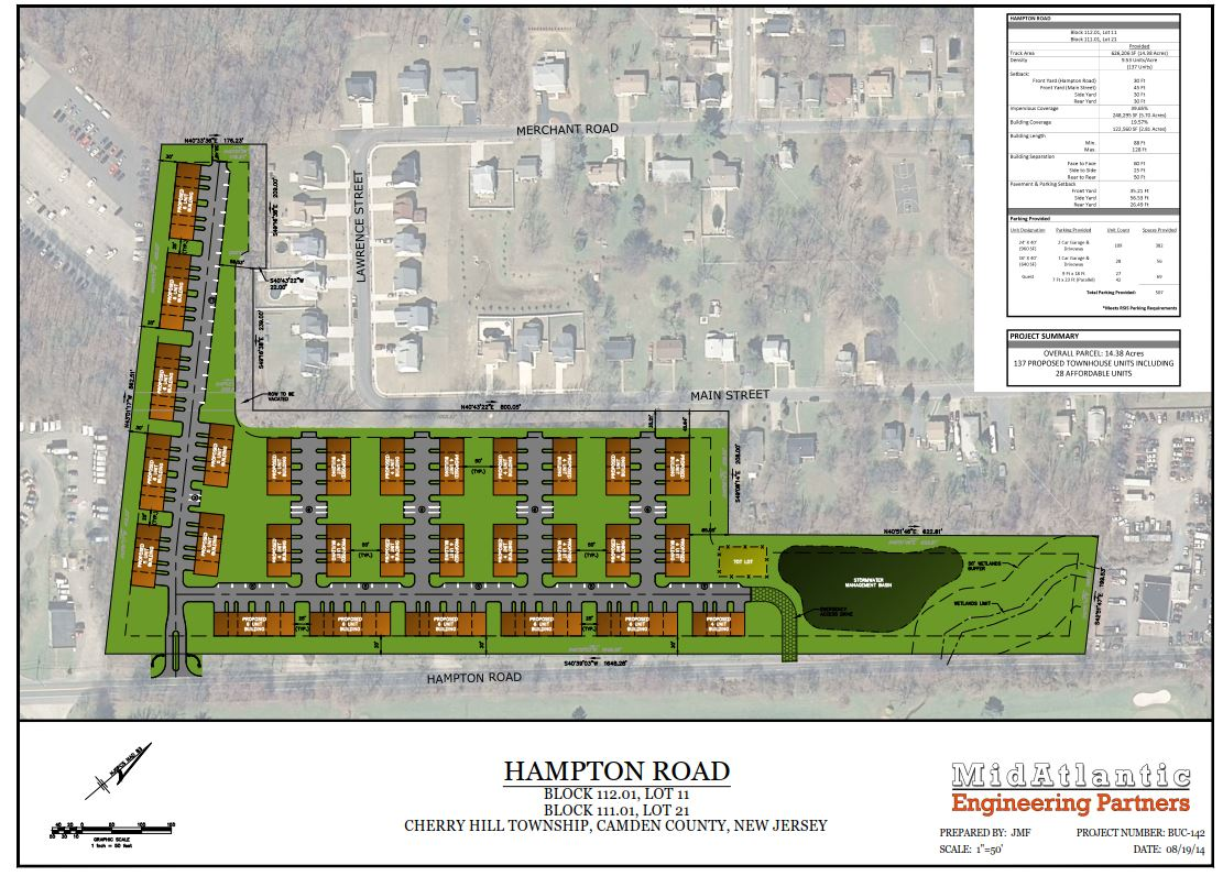 Hampton Road, 137 Proposed Town Homes, Cherry Hill, NJ