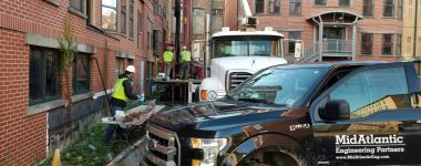 MidAtlantic Environmental Services Team Works to Install Monitoring Wells at Residential Redevelopment